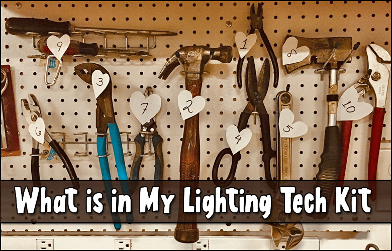 What is in my lighting tech kit